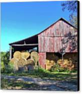 Tennessee Hay Barn Canvas Print by Richard Gregurich