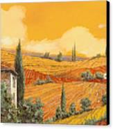 terra di Siena Canvas Print by Guido Borelli
