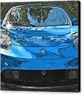 Tesla Roadster Electric Sports Car Canvas Print by Samuel Sheats