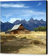Teton Barn 3 Canvas Print by Marty Koch