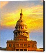 Texas Capitol At Sunset Austin Canvas Print by Jeff Steed