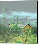 Texas Farm House - Digital Painting Canvas Print by Merton Allen