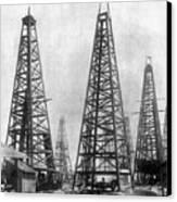 Texas: Oil Derricks, C1901 Canvas Print by Granger
