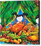 Thanksgiving Day Canvas Print by Zaira Dzhaubaeva