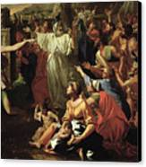 The Adoration Of The Golden Calf Canvas Print by Nicolas Poussin