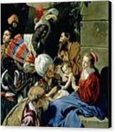 The Adoration Of The Kings Canvas Print by Fray Juan Batista Maino