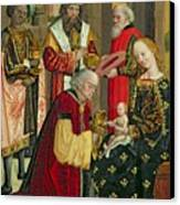 The Adoration Of The Magi Canvas Print by Absolon Stumme