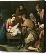 The Adoration Of The Shepherds Canvas Print by Bartolome Esteban Murillo