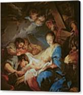 The Adoration Of The Shepherds Canvas Print by Charle van Loo