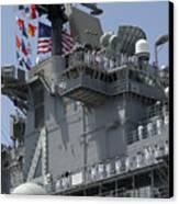 The Amphibious Assault Ship Uss Boxer Canvas Print by Stocktrek Images