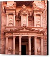 The Ancient Treasury Petra Canvas Print by Jane Rix