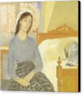 The Artist In Her Room In Paris Canvas Print by Gwen John
