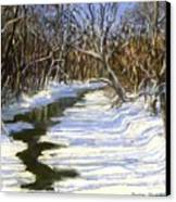 The Assabet River In Winter Canvas Print by Jack Skinner