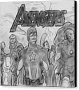 The Avengers Canvas Print by Chris  DelVecchio