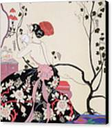 The Backless Dress Canvas Print by Georges Barbier