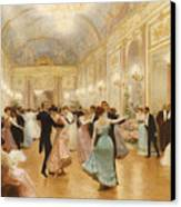 The Ball Canvas Print by Victor Gabriel Gilbert