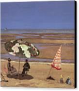 The Beach Canvas Print by Etienne Moreau Nelaton