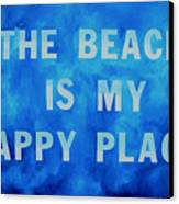 The Beach Is My Happy Place 2 Canvas Print by Patti Schermerhorn