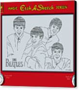 The Beatles Canvas Print by Ron Magnes