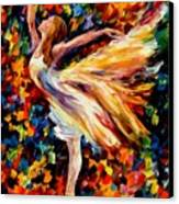 The Beauty Of Dance Canvas Print by Leonid Afremov