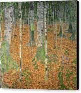 The Birch Wood Canvas Print by Gustav Klimt