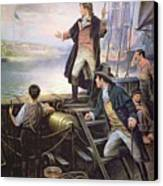 The Birth Of The Us National Anthem Canvas Print by American School