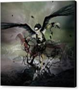 The Black Swan Canvas Print by Mary Hood