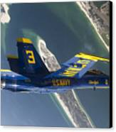 The Blue Angels Perform A Looping Canvas Print by Stocktrek Images