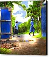 The Blue Gate Canvas Print by Bob Salo