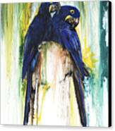 The Blue Parrots Canvas Print by Anthony Burks Sr