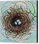 The Botanical Bird Nest Canvas Print by Elizabeth Robinette Tyndall