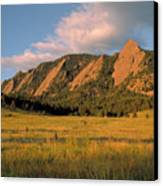 The Boulder Flatirons Canvas Print by Jerry McElroy