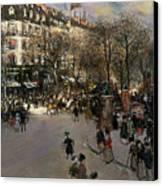 The Boulevard Des Italiens Canvas Print by Jean Francois Raffaelli