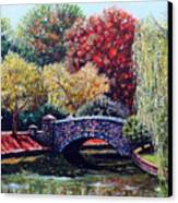 The Bridge At Freedom Park Canvas Print by Jerry Kirk