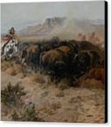 The Buffalo Hunt Canvas Print by Charles Russell