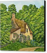 The Charm Of Wiltshire Canvas Print by Charlotte Blanchard