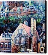The Chateau Frontenac Canvas Print by Carole Spandau