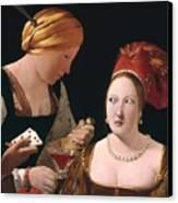 The Cheat With The Ace Of Diamonds Canvas Print by Georges de la Tour