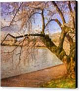 The Cherry Blossom Festival Canvas Print by Lois Bryan