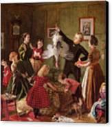 The Christmas Hamper Canvas Print by Robert Braithwaite Martineau