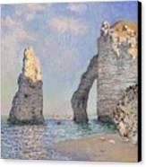 The Cliffs At Etretat Canvas Print by Claude Monet