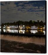 The Colorful Lights Of Boathouse Row Canvas Print by Bill Cannon