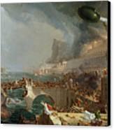 The Course Of Empire - Destruction Canvas Print by Thomas Cole