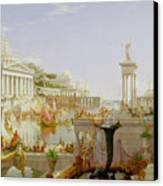 The Course Of Empire - The Consummation Of The Empire Canvas Print by Thomas Cole