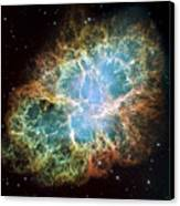 The Crab Nebula Canvas Print by Stocktrek Images