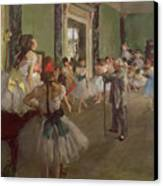 The Dancing Class Canvas Print by Edgar Degas