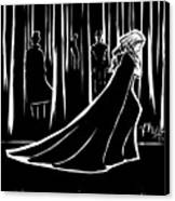 the Dark Forest Canvas Print by Rachel H White