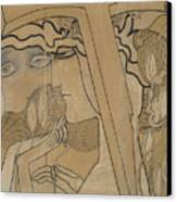 The Desire And The Satisfaction Canvas Print by Jan Theodore Toorop