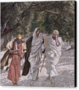 The Disciples On The Road To Emmaus Canvas Print by Tissot