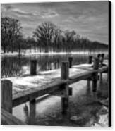 The Dock Canvas Print by Everet Regal